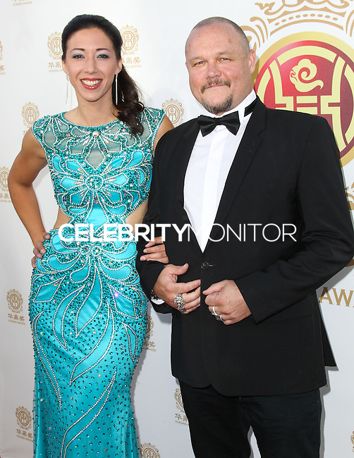 HOLLYWOOD, LOS ANGELES, CA, USA - JUNE 01: Estelle Simon, Herve Renoh at the 12th Annual Huading Film Awards held at the Montalban Theatre on June 1, 2014 in Hollywood, Los Angeles, California, United States. (Photo by Xavier Collin/Celebrity Monitor)