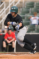 Sean McCraw (15) of the Savannah Sand Gnats tries to lay down a bunt at Fieldcrest Cannon Stadium in Kannapolis, NC, Sunday July 20, 2008. (Photo by Brian Westerholt / Four Seam Images)