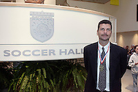 2004 Hall of Fame inductee Michael Windischmann poses for a picture before the start of the induction ceremony on Monday October 11, 2004 at the National Soccer Hall of Fame and Museum, Oneonta, NY..