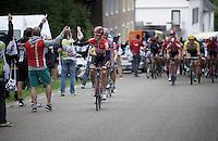 Lars Bak (DEN/Lotto-Soudal) handed a musette in the feedzone<br /> <br /> stage 3: Buchten-Buchten (190km)<br /> 29th Ster ZLM Tour 2015