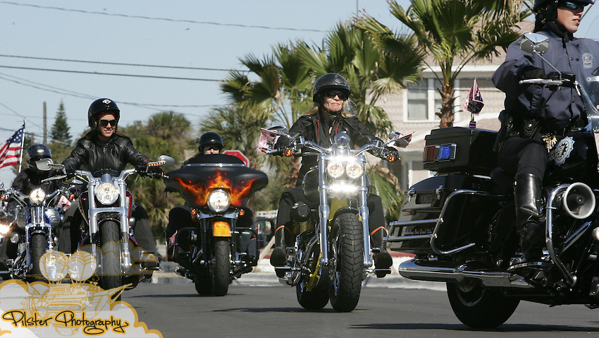 Tuesday, March 3, 2009, during the 2nd Annual Harley-Davidson Women's Day Ride in Daytona Beach. The ride went from the Daytona International Speedway to the Ocean Center. It was an opportunity for women to celebrate their freedom and passion for riding and the MDA.  All of the riders participating in the ride were encouraged to secure pledges and donations from their friends and families to support MDA Summer Camp programs across the country.  The top three fundraisers received a Harley-Davidson jacket and anyone who raised more than $600 received an exclusive MDA charm.  This years ride raised over $50,000. Karen Davidson, the great grand-daughter of one of the founders of the Motor Company, lead the ride..(Chad Pilster, PilsterPhotography.com for Weber Shandwick)