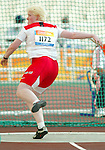 Courtney Knight of Burnaby Bc won the bronze in discus trow today.<br />