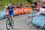 Petr Vakoc (CZE) of Deceuninck - Quick Step (BEL,WT,Specialized) during the 2019 La Fl&egrave;che Wallonne (1.UWT) with 195 km racing from Ans to Mur de Huy, Belgium. 24th April 2019. Picture: Pim Nijland | Peloton Photos/Cyclefile<br /> <br /> All photos usage must carry mandatory copyright credit (Peloton Photos/Cyclefile | Pim Nijland)