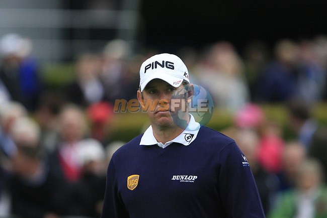 Lee Westwood (ENG) before teeing off on the 1st tee to start his round on Day 2 of the BMW PGA Championship Championship at, Wentworth Club, Surrey, England, 27th May 2011. (Photo Eoin Clarke/Golffile 2011)