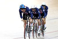 Team USA  in the ME TP during the UCI Track Cycling World Cup on January 18, 2019 in Cambridge New Zealand. (Photo by Dianne Manson)