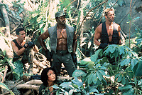 Predator (1987) <br /> Carl Weathers, Arnold Schwarzenegger, Richard Chaves &amp; Elpidia Carrillo<br /> *Filmstill - Editorial Use Only*<br /> CAP/KFS<br /> Image supplied by Capital Pictures