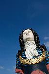 Ship figurehead at Gunwharf Quays, Portsmouth, Hampshire, England