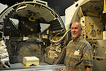 FRED LOSEE, 78, of Sound Beach, NY, is next to a LEM Simulator at a Summer of '69 Celebration Event, the reunion of former Northrop Grumman Aerospace Corporation employees, held at the Long Island Cradle of Aviation Museum, on the 45th Anniversary of NASA Apollo 11 LEM landing on the moon July 20, 1969. Losee was the Lead QC Quality Control on all LEM Lunar Excursion Modules from 1966 to 1972.