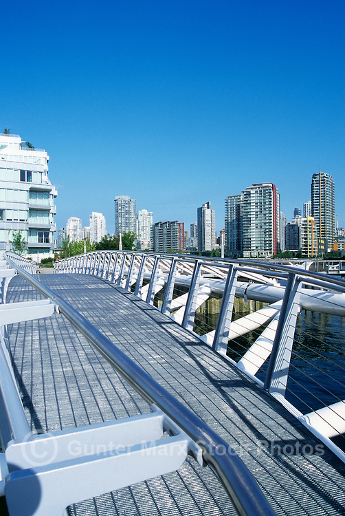 Pedestrian Bridge at the Village on False Creek (aka Olympic Village), Vancouver, BC, British Columbia, Canada