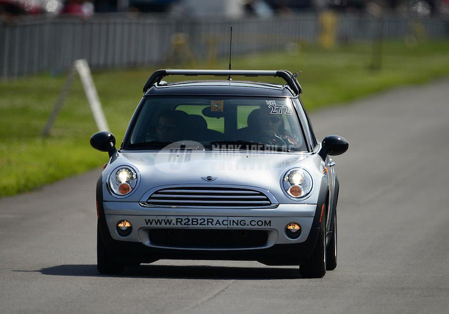Jun. 15, 2012; Bristol, TN, USA: NHRA tow vehicle for pro mod driver Roger Burgess during qualifying for the Thunder Valley Nationals at Bristol Dragway. Mandatory Credit: Mark J. Rebilas-