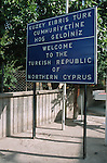 Lefkosia (Nikosia) town, capital of Cyprus.It's the world's last divided city, split between the turkish occupied north and the republican soutg.The border is called the green line in the heart of the old city