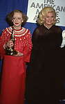 Bette Davis and Ginger Rogers attends the 'American Movie Awards' at Chasen's Restaurant on March 15, 1082 in Los angeles, California.