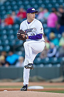 Winston-Salem Dash starting pitcher Tony Bucciferro (14) in action against the Wilmington Blue Rocks at BB&T Ballpark on April 5, 2014 in Winston-Salem, North Carolina.  The Dash defeated the Blue Rocks 3-2.  (Brian Westerholt/Four Seam Images)