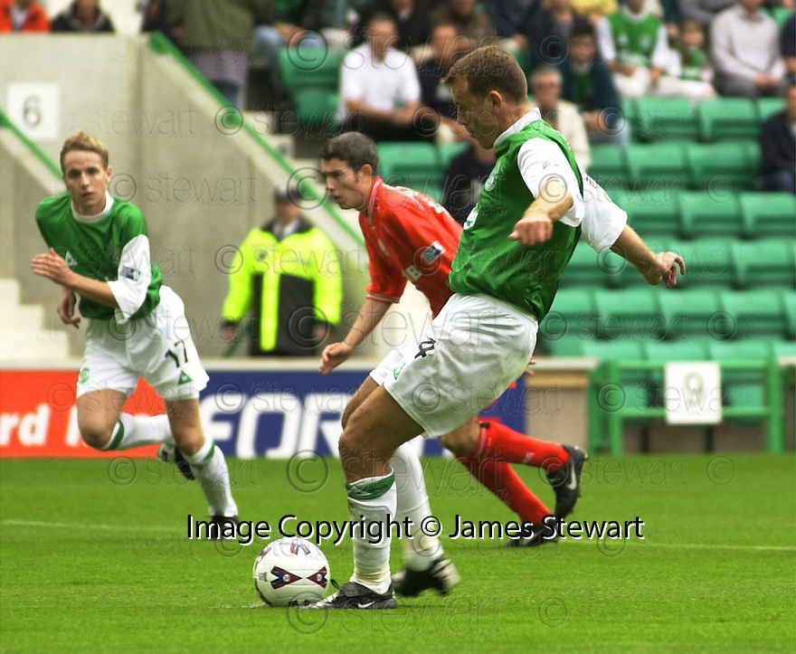 12/08/2001          Copyright Pic : James Stewart .Ref : DSC_4836                          .File Name : stewart10-hibs v aberdeen.FRANCK SAUZEE SCORE THE FIRST FROM THE PENALTY SPOT.....James Stewart Photo Agency, Stewart House, Stewart Road, Falkirk. FK2 7AS      Vat Reg No. 607 6932 25.Office : +44 (0)1324 630007     Mobile : + 44 (0)7721 416997.Fax     :  +44 (0)1324 630007.E-mail : jim@jspa.co.uk.If you require further information then contact Jim Stewart on any of the numbers above.........