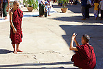 Monks Taking Photo, Shwezigon Pagoda