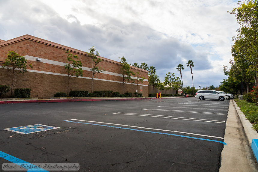 "The Target shopping center (""Costa Mesa Square"") in Costa Mesa, CA on Black Friday 2019."