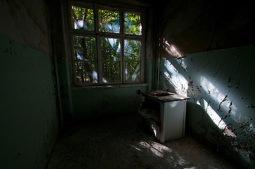 Krampnitz, an old tank barracks. One of the many kitchens in this place. I love how nature has really taken this place back.