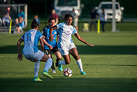 Kansas City, MO - Sunday May 07, 2017: Marta Vieira Da Silva, Christina Gibbons, Jamia Fields during a regular season National Women's Soccer League (NWSL) match between FC Kansas City and the Orlando Pride at Children's Mercy Victory Field.