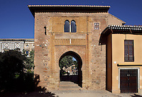 Western Façade, The Wine Gate, 1303 ? 1309, later redecorated by the Sultan Muhammad V (1354 ? 1359; 1362 ? 1391), The Alhambra, Granada, Andalusia, Spain. Picture by Manuel Cohen