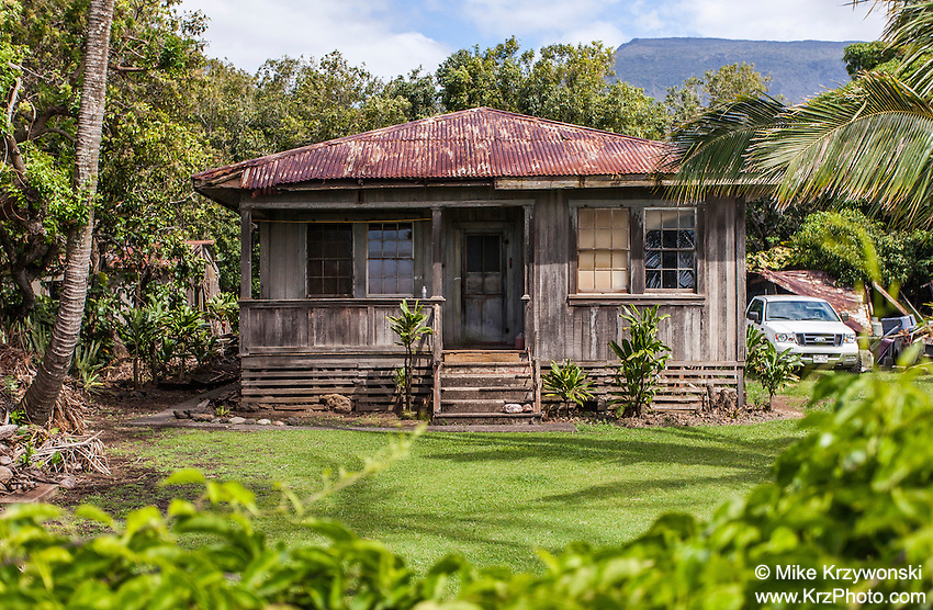 Old plantation style house, Kaupo, Maui