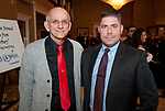 WATERBURY,  CT-032317JS12 --Domenic Angiolillo and Thomas Gorman at the 10th annual &quot;Wishes from Waterbury&quot; Wine and Beer Tasting fundraiser at LaBella Vista in Waterbury. The fundraiser benefits the Make-A-Wish Foundation of Connecticut.  <br /> Jim Shannon Republican-American
