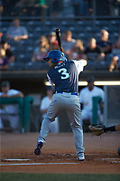 Sebastian Rivero (3) of the Lexington Legends at bat against the West Virginia Power at Appalachian Power Park on June 7, 2018 in Charleston, West Virginia. The Power defeated the Legends 5-1. (Brian Westerholt/Four Seam Images)