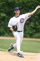 June 18th 2007:  Rich Hill of the Chicago Cubs during a game at Wrigley Field in Chicago, IL.  Photo by:  Mike Janes/Four Seam Images