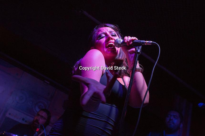 Quer&eacute;taro,Qro. 24 de Marzo, 2016.:  La cantautora queretana Melissa Melendez &quot;Miel&quot;, present&oacute; este jueves por la noche en el centro nocturno &quot;Basement&quot; su nuevo disco proyecto &quot;Apomixis&quot; acompa&ntilde;ada por el grupo de rock &quot;Black Angels.<br /> <br /> Foto: David Steck