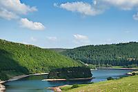 View towards Pen Y Garreg Reservoir, Elan Valley, Powys, Wales