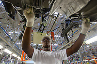 Automobile industry worker - Nissan Resende factory in Brazil.