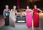 Breast Cancer Care Charity Fashion Show.<br /> Wales Millennium Centre.<br /> Models posing with the pink FAB 1 Rolls Royce.<br /> <br /> 05.03.14<br /> <br /> &copy;Steve Pope-FOTOWALES