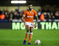 Blackpool's Curtis Tilt <br /> <br /> Photographer Andrew Kearns/CameraSport<br /> <br /> The Emirates FA Cup Second Round - Solihull Moors v Blackpool - Friday 30th November 2018 - Damson Park - Solihull<br />  <br /> World Copyright © 2018 CameraSport. All rights reserved. 43 Linden Ave. Countesthorpe. Leicester. England. LE8 5PG - Tel: +44 (0) 116 277 4147 - admin@camerasport.com - www.camerasport.com