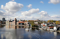 Rivier de Zaan in Zaandam