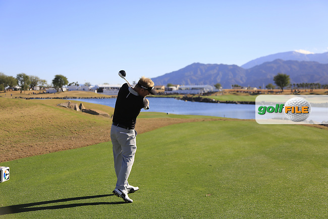 Soren Kjeldsen (DEN) tees off the 18th tee during Saturday's Round 3 of the 2017 CareerBuilder Challenge held at PGA West, La Quinta, Palm Springs, California, USA.<br /> 21st January 2017.<br /> Picture: Eoin Clarke | Golffile<br /> <br /> <br /> All photos usage must carry mandatory copyright credit (&copy; Golffile | Eoin Clarke)