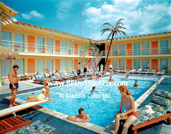 tahiti motel in wildwood crest new jersey 1960 39 s pool picture. Black Bedroom Furniture Sets. Home Design Ideas