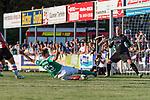 04.09.2018, Hoheellern-Stadion, Leer, GER, FSP, Werder Bremen (GER) vs FC Emmen (NED)<br /> <br /> DFL REGULATIONS PROHIBIT ANY USE OF PHOTOGRAPHS AS IMAGE SEQUENCES AND/OR QUASI-VIDEO.<br /> <br /> im Bild / picture shows<br /> Sebastian Langkamp (Werder Bremen #15) mit Torchance, <br /> <br /> Foto © nordphoto / Ewert