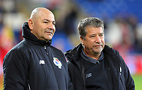 Panama manager Hernan Dario Gomez (R) during the international friendly soccer match between Wales and Panama at Cardiff City Stadium, Cardiff, Wales, UK. Tuesday 14 November 2017.