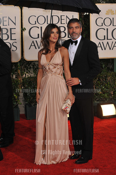 George Clooney & Elisabetta Canalis at the 67th Golden Globe Awards at the Beverly Hilton Hotel..January 17, 2010  Beverly Hills, CA.Picture: Paul Smith / Featureflash