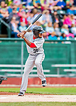 25 July 2017: Tri-City ValleyCats outfielder Bryan De La Cruz in action against the Vermont Lake Monsters at Centennial Field in Burlington, Vermont. The Lake Monsters defeated the ValleyCats 11-3 in NY Penn League action. Mandatory Credit: Ed Wolfstein Photo *** RAW (NEF) Image File Available ***