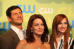 Melrose Cast - Thomas Calabro, Laura Leighton and Ashlee Simpson-Wentz at the CW Upfront 2009 on May 21, 2009 at Madison Square Gardens, New York NY. (Photo by Sue Coflin/Max Photos)