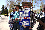 Duane Magoon, of Bunkerville, participates in a rally outside the Legislative Building in Carson City, Nev., on Tuesday, March 31, 2015. <br /> Photo by Cathleen Allison