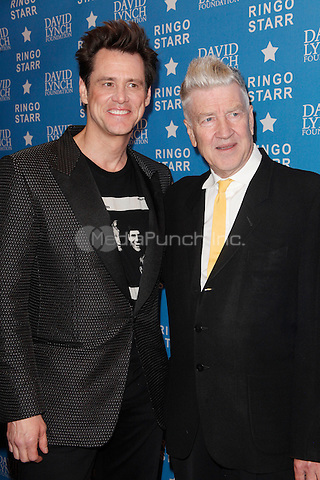 LOS ANGELES, CA - JANUARY 20: Jim Carrey and David Lynch at the David Lynch Foundation honors Ringo Starr with the 'Lifetime Of Peace & Love Award' held at the El Rey Theatre on January 20, 2014 in Los Angeles, California. Credit: StarShooter/MediaPunch