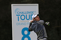Lorenzo Scalise (ITA) on the 8th tee during Round 2 of the Challenge Tour Grand Final 2019 at Club de Golf Alcanada, Port d'Alcúdia, Mallorca, Spain on Friday 8th November 2019.<br /> Picture:  Thos Caffrey / Golffile<br /> <br /> All photo usage must carry mandatory copyright credit (© Golffile | Thos Caffrey)