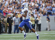 Annapolis, MD - October 7, 2017: Air Force Falcons wide receiver Marcus Bennett (8) scores a touchdown during the game between Air Force and Navy at  Navy-Marine Corps Memorial Stadium in Annapolis, MD.   (Photo by Elliott Brown/Media Images International)