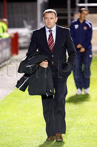 18.09.2012. Dagenham, ENGLAND: ..Aidy Boothroyd Manager of Northampton Town during the English League Two match between Dagenham & Redbridge and Northampton Town at The L.B Barking & Dagenham Stadium, London
