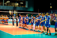 GRONINGEN - Volleybal, Lycurgus - SK Posojilnica Aich/Dob, voorronde Champions League, seizoen 2018-2019, 11-10-2018,  line up