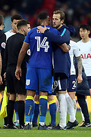 Harry Kane of Tottenham and Liam Trotter of AFC Wimbledon after Tottenham Hotspur vs AFC Wimbledon, Emirates FA Cup Football at Wembley Stadium on 7th January 2018