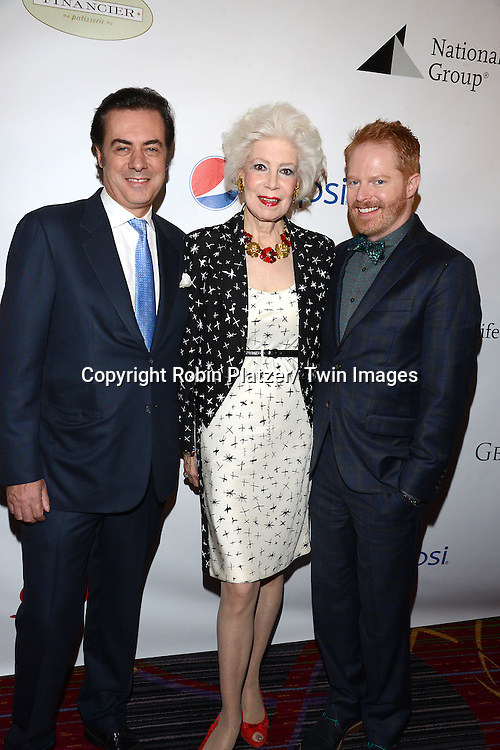 John Gore, Jano Herbosch and  Jesse Tyler Ferguson attend the 80th Annual Drama League Awards Ceremony and Luncheon on May 16, 2014 at the Marriot Marquis Hotel in New York City, New York, USA.