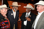 From left: Wayne Hollis, Donald Middleton, Warner Ervin and Yance Montalbano at the 17th Annual Black Heritage Western Gala at the Reliant Center Saturday Jan. 30,2010.(Dave Rossman Photo)