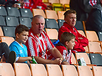 Lincoln City fans enjoy the pre-match atmosphere<br /> <br /> Photographer Andrew Vaughan/CameraSport<br /> <br /> The EFL Sky Bet League Two - Port Vale v Lincoln City - Saturday 13th October 2018 - Vale Park - Burslem<br /> <br /> World Copyright © 2018 CameraSport. All rights reserved. 43 Linden Ave. Countesthorpe. Leicester. England. LE8 5PG - Tel: +44 (0) 116 277 4147 - admin@camerasport.com - www.camerasport.com